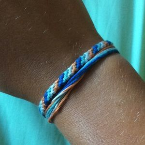 Blue and Orange Bracelets